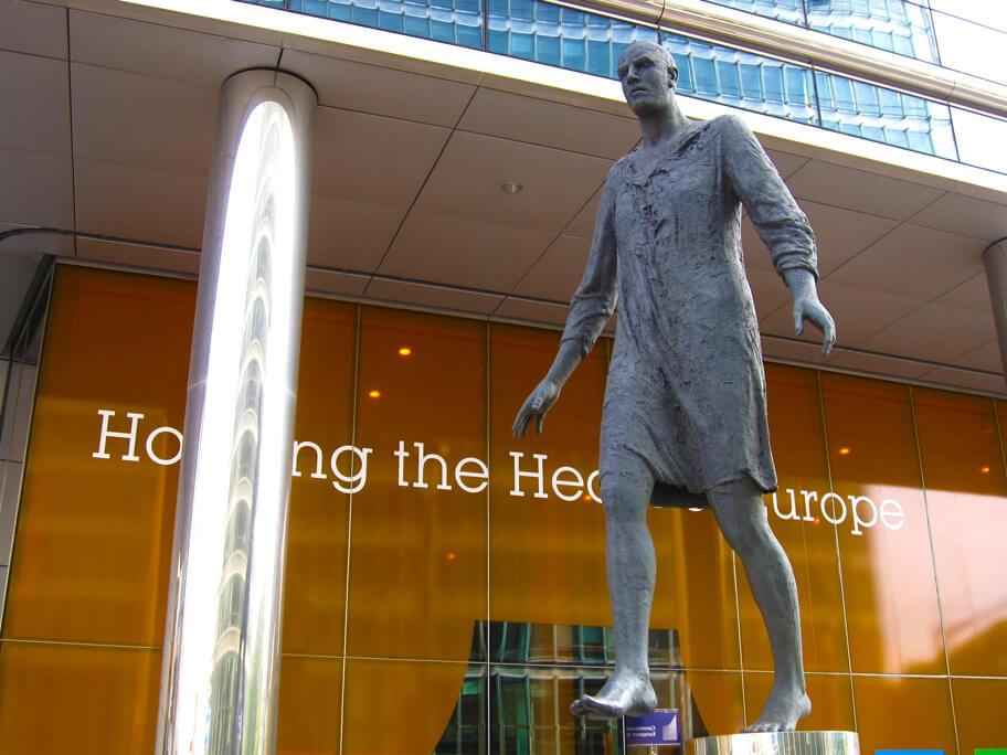 ブリュッセルにある銅像