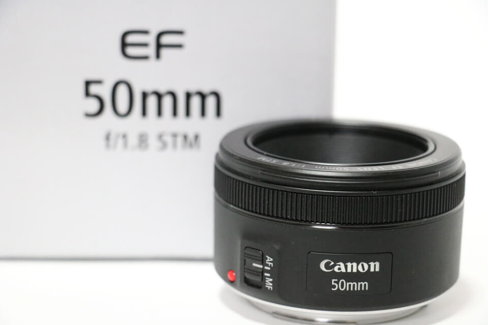 Canonの単焦点レンズEF50mmF1.8STM