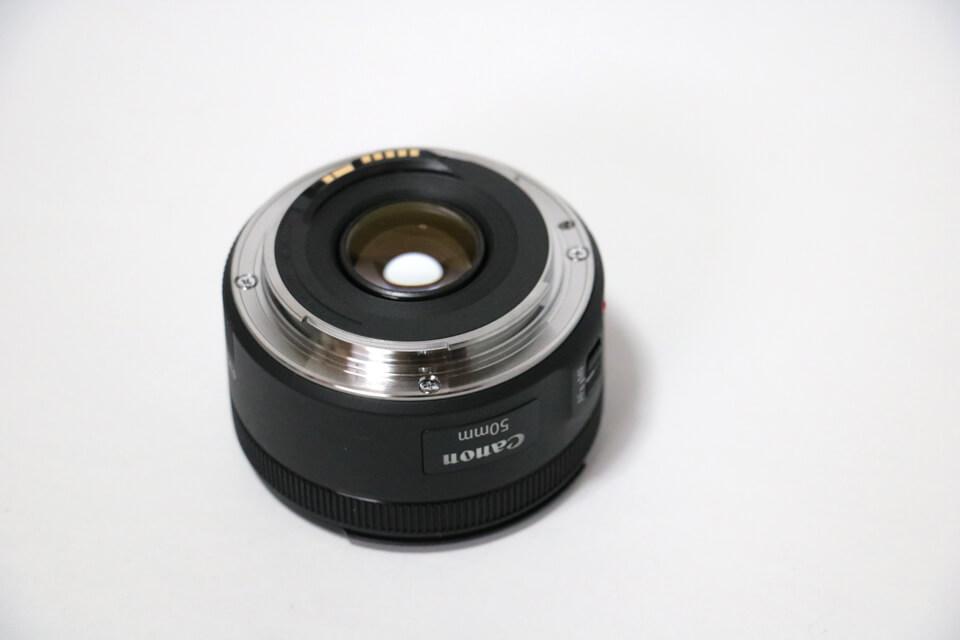 EF50mm F1.8 STMのマウント部分