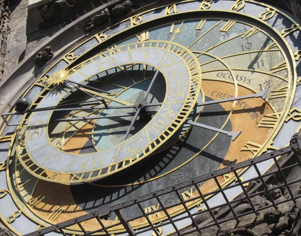 天文図の文字盤