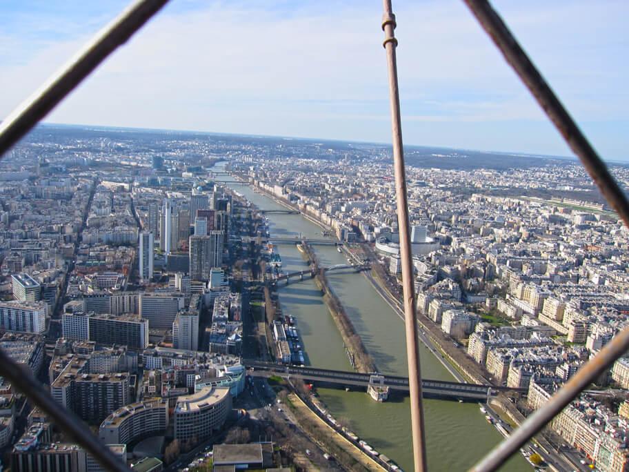 エッフェル塔からの眺め