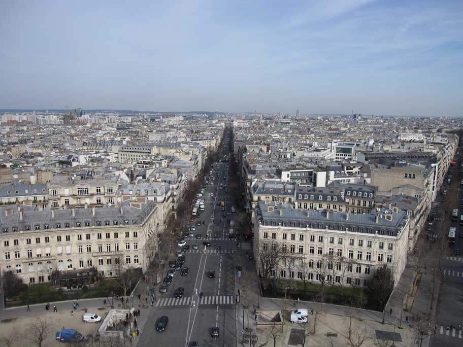 凱旋門から見える景色