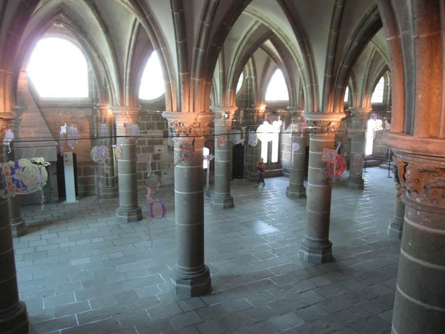 修道院の図書館跡