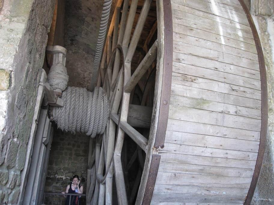 労働に使われていた車輪