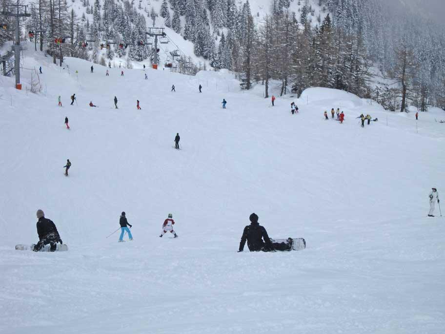 シャモニー・モンブランのスキー場