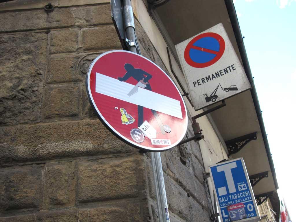 フィレンツェ,道路標識