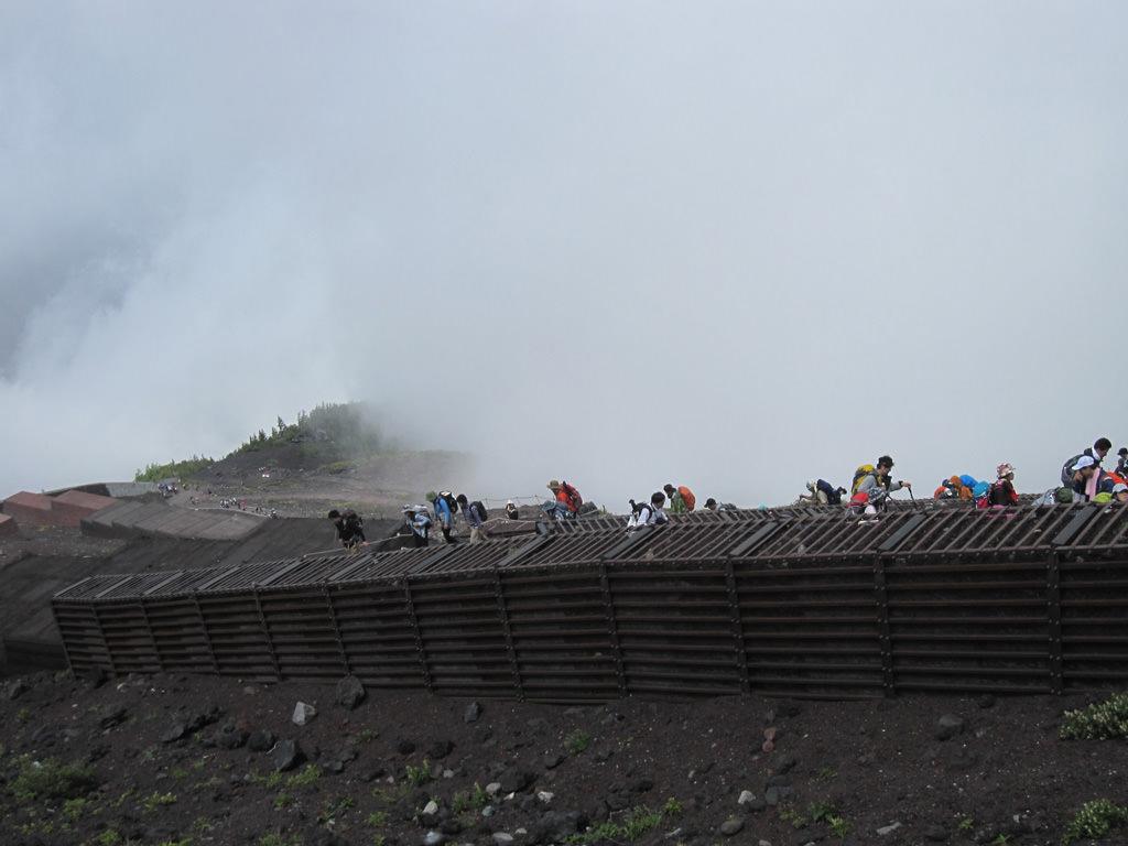 富士山,霧,悪天候