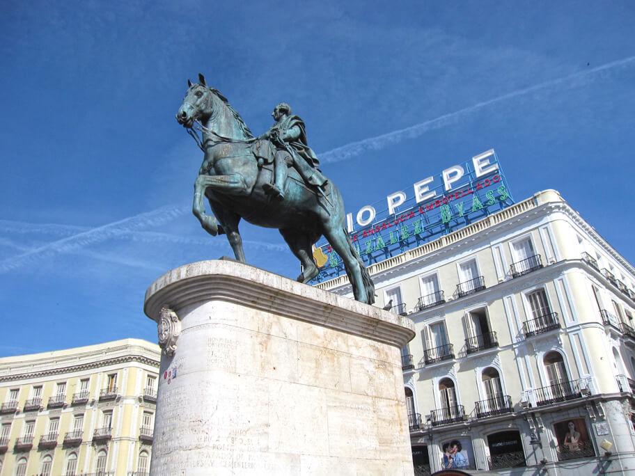 カルロス3世の騎馬像