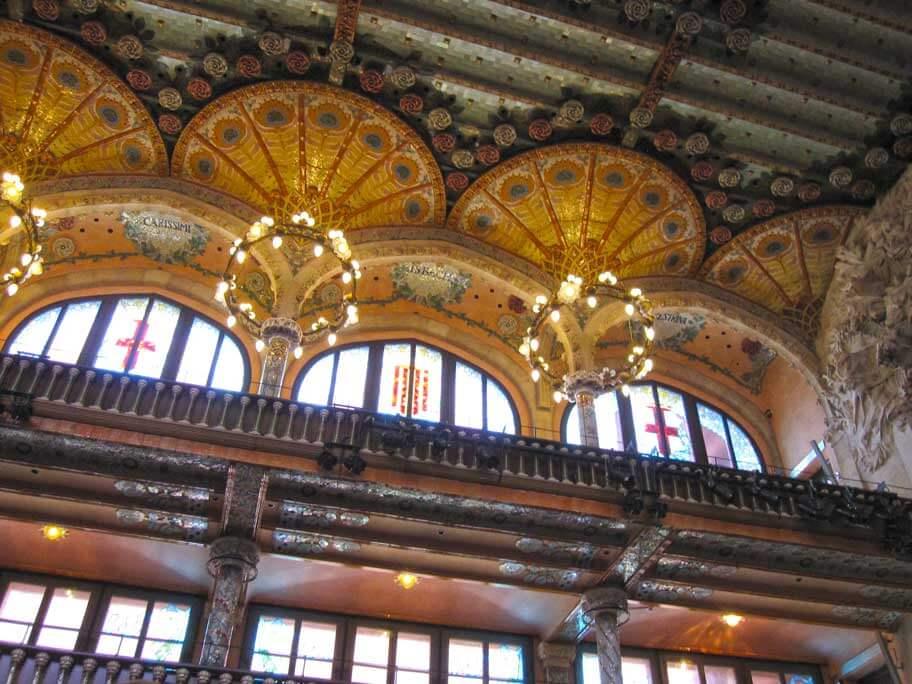 カタルーニャ音楽堂のモデルニスモ様式の装飾