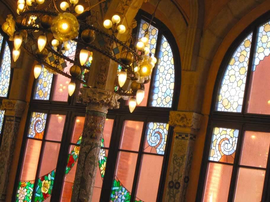 カタルーニャ音楽堂内部の装飾