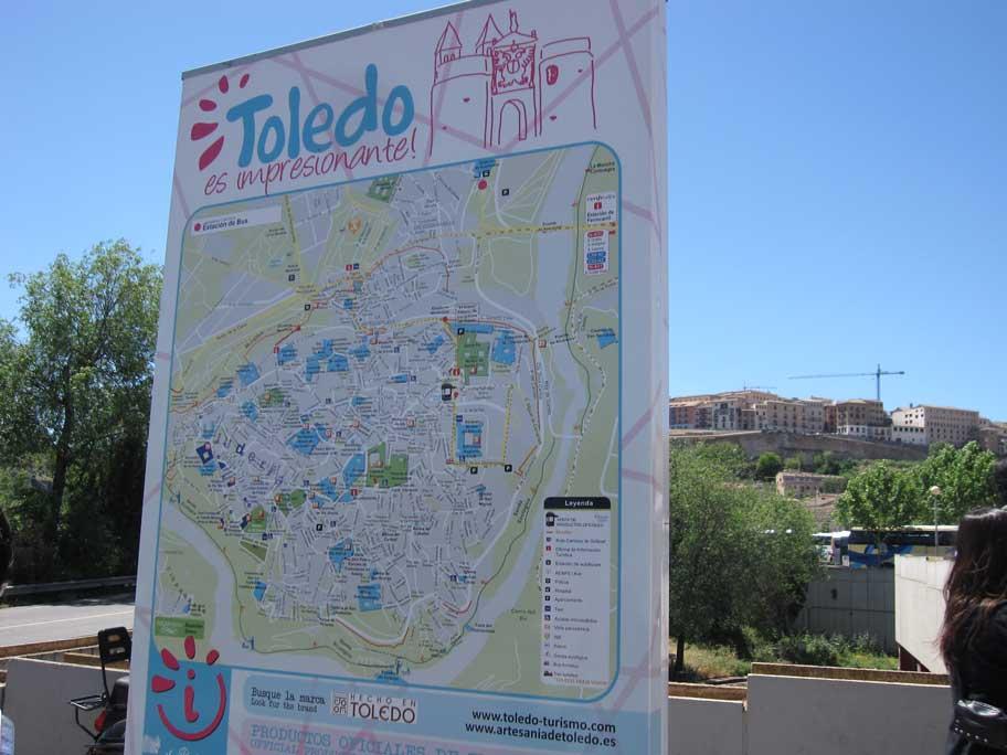 スペイン,トレド,街の地図