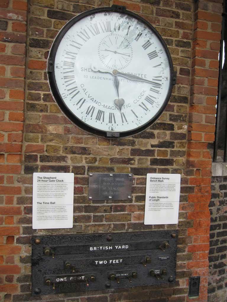 グリニッジ天文台にある時計